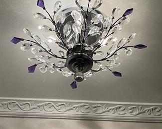 Swarovski Crystal ceiling fixture, we have a pair