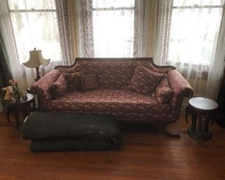 1800's Duncan Phyfe elephant print couch, excellent condition. $1250