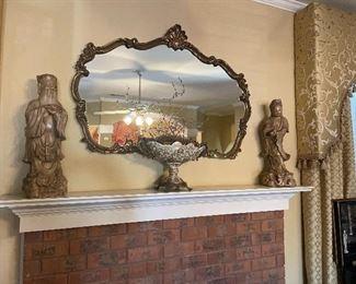Beautiful mirrors and Asian ceramic