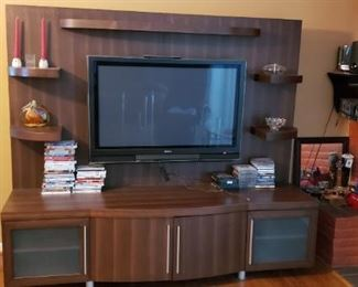 """Entertainment Center ($500)  78.75""""L x 22.5""""W x 68.5""""H - Available for pre-sale. Please contact us at contactmvp@moorevaluepros.com for more information or to purchase."""
