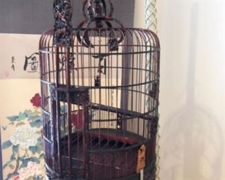 Asian birdcage with stand