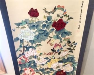 Asian Floral Scroll (Very Tall)