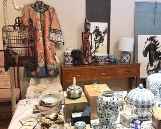 Asian collectibles and art (robe no longer available)
