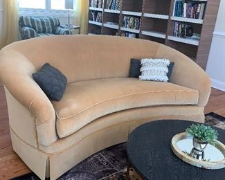 Kidney shaped couch