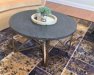Gold tone legs coffee table