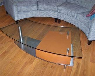 Asymmetric Glass top Coffee Table