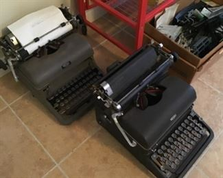 Two of the Three Typewriters from the Hardware Store