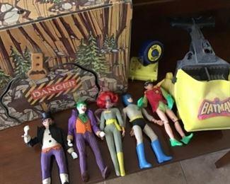 Mego Batman Characters with BatCave