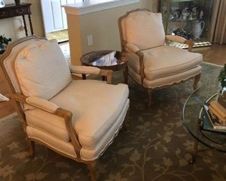 Pristine pair of Bergere Chairs