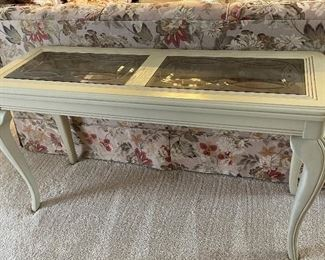 Sofa table etched glass!$50 obo