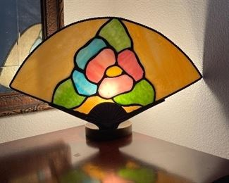 Stained glass lamp $10