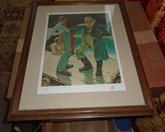 Limited edition Norman Rockwell print