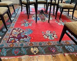 Large dhurrie rug