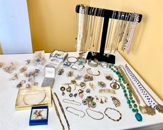 Costume & sterling silver jewelry