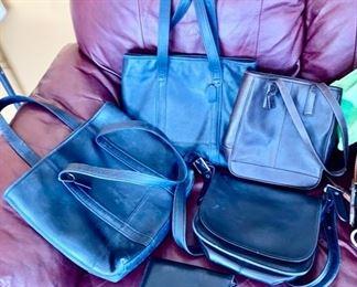 Several Coach purses, wallets