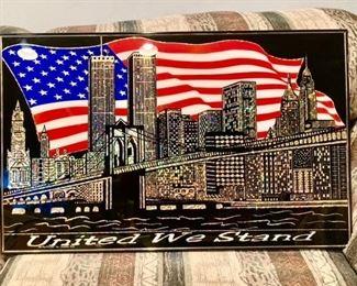 United We Stand framed poster