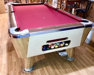 Vintage pool table from the Northway Bar in Jackson, MI