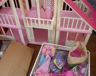 Vintage Barbie A-Frame Dream House