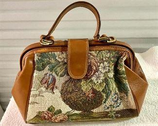 11.Purse Vintage Leather Trim Liz Claiborne$30 NOW $20