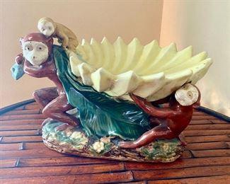 11.Monkey fruit bowl center piece $40
