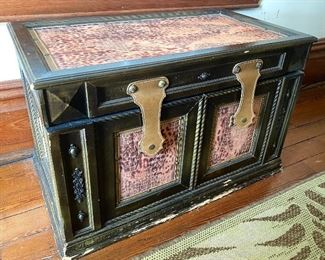 """13.Trunk wood and leatherette 29 ½""""L x 22""""D x 19""""H    As is  $50"""