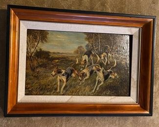 Hunt Painting by L Hancock