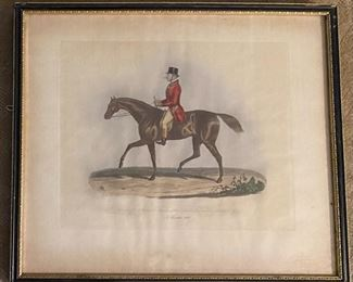 Fox Hunt Lithograph