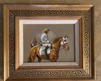 'Steeplechase Jockeys'      Oil         Larry Dodd Wheeler