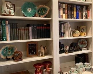 Variety of Decorative Pieces and Books