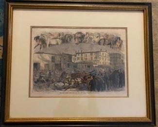 'The Horse Market'       Print      A.R. Waud
