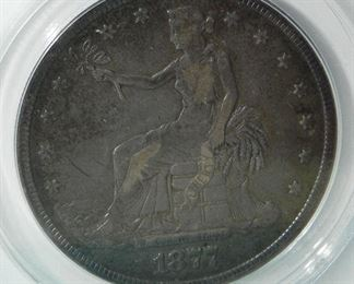 Certified 1877-S Trade Dollar, ANACS Grade: F12
