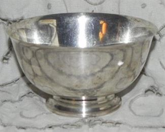 S. Kirk & Son #211 Sterling Paul Revere Reproduction Bowl, Solid-Not Weighted, measures 3 inches tall x 5 inches diameter, weighs approx 198.45 grams