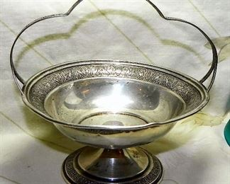 Sterling Silver Basket, Solid-Non Weighted, weighs approx 59.53 grams