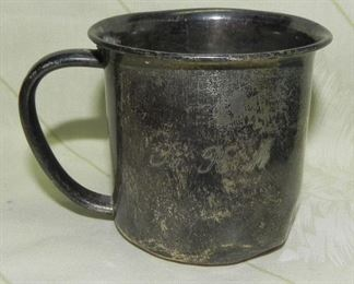 Antique Towle Sterling Silver #10791 Engraved Baby Cup, weighs approx 56.70 grams