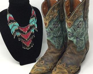 Vintage Designer Cowboy Boots