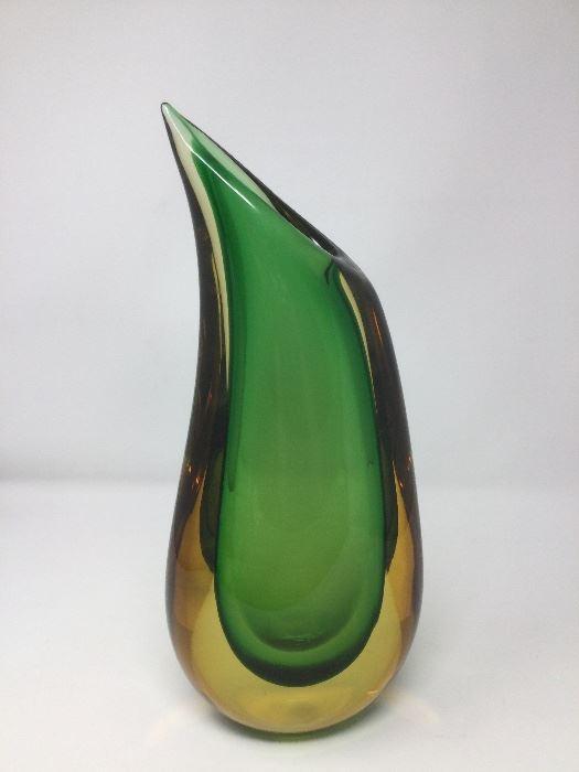 Murano Glass signed vase
