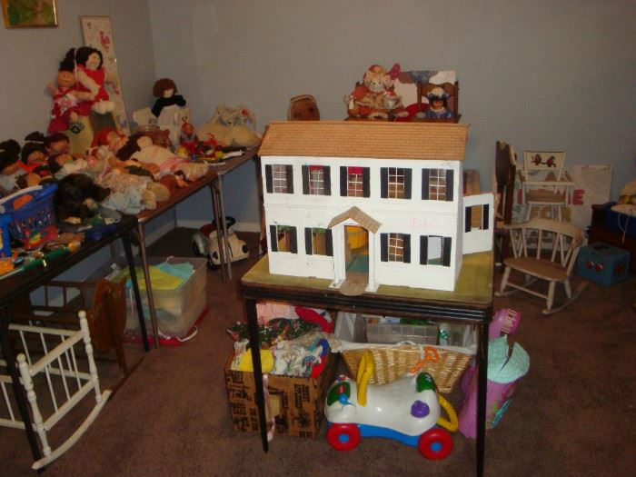 Wood Doll House and Children's Toys