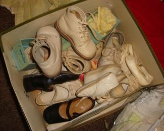 Vintage baby girl's shoes.