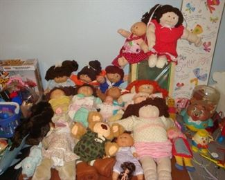 Cabbage Patch Dolls.