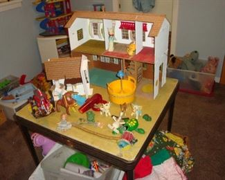 Doll House and Toys.