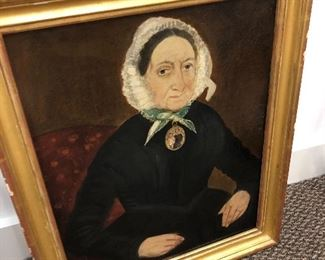 American school Lady in mourning possibly mourning the children in the cameo.  $1200 Mrs. Kingston MacKay, Philadelphia