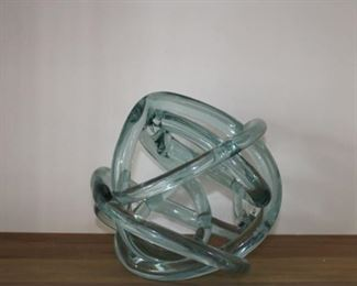 Hand- blown modern glass decoration: $95 REDUCED TO $75