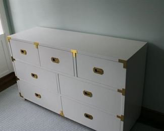 Asian Style white and brass bureau $1,250 DRASTICALLY REDUCED TO 225!!