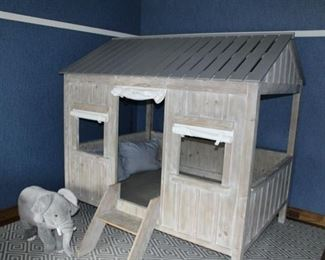 Youth cabin bed!  REDUCED TOP $300!!!!!!!Fits a full-size mattress. Paid $3,275.