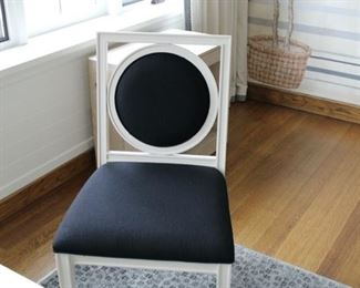 2 black and white Salon side chairs Each $275. REDUCED TO $200 EACH! THERE ARE TWO OF THEM