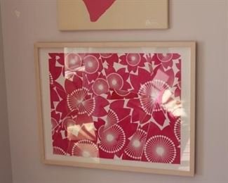 Cut out framed art. Great for girls room! $250 see reduced price previously.!!!
