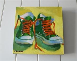 """""""Shoes on Canvas"""". by Henry Stinson $850 each REDUCED EACH WORK BY STINSON TO $650!"""