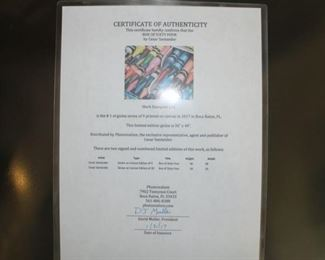 """Certificate of Authenticity """"Box of 64"""""""