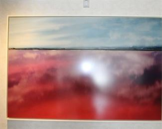 """""""Red Sea"""" by listed artist Diane Tuft, 40 x 60"""""""