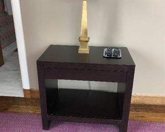 2 of these black side tables with drawers